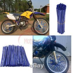 Roue Spoke Wraps Kit Jantes Couvre Skins Protecteur Pour Dirt Bike Motocross