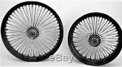 Roues À Rayons Fat 21 Et 16 Noires Harley Sportster Nightster Iron 08-15