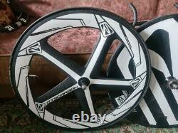 Rts Carbon Track Wheelset Roue Disque Arrière + Avant Cinq Spoke Super Fast