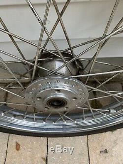 Shovelhead Chrome Jantes Avec Pneus Dunlop Set 21 Avant 16 Arrière