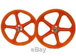Skyway Bmx 20 Avant Arrière Wheelset Tuff II Roulement Étanche 5 Spoke Oran