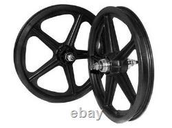 Skyway Bmx Wheelset Tuff II S/b 5 Spoke 16 X 1,75 Noir