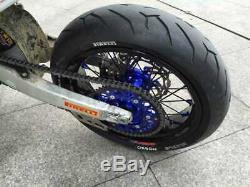 Supermoto Avant Roues Arrière Moyeux Jantes Spokes Set Pour Yamaha Yz250f Yz450f 09-13