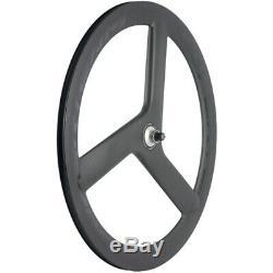 Superteam 56mm Tri Spoke Roues Clincher Carbon Roues Vélo De Route Roues 700c