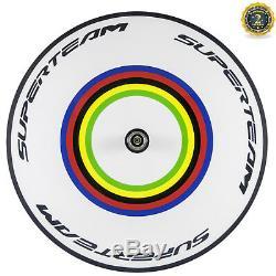 Superteam Avant Cinq Rayons Disque Arrière Carbone Roues Vélo De Route Tt Vélo
