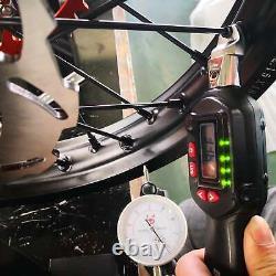 Suzuki Rmz250 Rmz 450 05-19 Avant Arrière 21/19 Roues Ensemble Gold Rim Black Hub Spoke