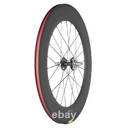 Track Bike Carbon Wheels Avant Tri Spoke Rear 88mm Fixed Gear Carbon Wheelset 3k