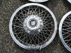 Usine 1983 À 1995 Buick Century 14 Pouces Fil Parlé Hubcaps Couvertures De Roues