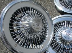 Véritable 1973 À 1978 Buick 15 Pouces De Fil Rayonné Hubcaps Couvertures De Roue