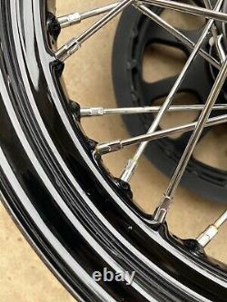 Véritable Harley Softail Slim 07-16 16x3 Roues Avant Lacé Arrière Spoke Oem