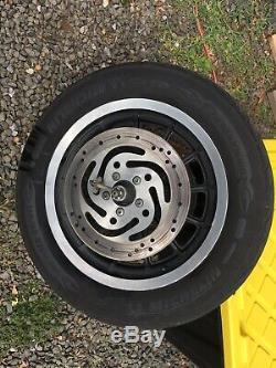 Véritable Harley Sportster 2001 Dyna 13 Spoke Double Disque Avant Et Arrière Jantes