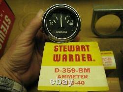 Vintage Stewart Warner Gauge Lot Fuel. H2o, Oil Temp, Oil Pres, Amp + Plus