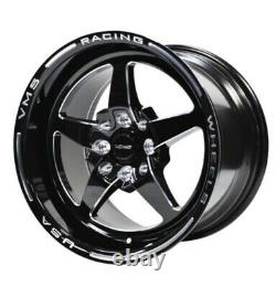 Vms Racing 5 Spoke Star Front & Rear Drag Wheels Set 4x100/4x114 15x8 Et 15x3.5