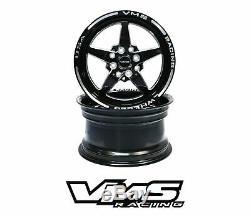 X4 Vms Racing Star 5 Branches Avant Et Arriere Drag Set De Roues 4x100 / 4x108 15x8