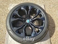 X5 Et X6 Bmw Série Oem Spoke Style 451 20 Blk Roue / Pneu / Tpms & Centre Cap Set