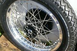 Xlch 18 Pouces Arrière Wheel19 Pouces Traction Avant Ss Spokes Et Hub Resto New Roulements