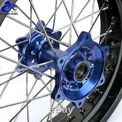 Yz250f Yz450f 2009-2013 Supermoto Roues Jantes Moyeux Spokes Rotors Set Pour Yamaha